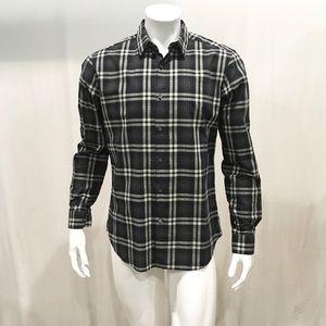 Theory Men's Windowpane Dress Shirt